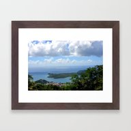 Over The Clouds In St Th… Framed Art Print