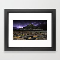 Electric Storm Framed Art Print