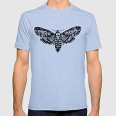 Death's-head Hawkmoth Mens Fitted Tee Athletic Blue SMALL