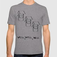 Well Well  Mens Fitted Tee Athletic Grey SMALL