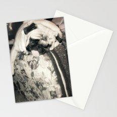 lazy pug Stationery Cards
