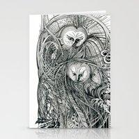 owls Stationery Cards featuring Owls by Irina Vinnik
