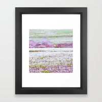 Flower Landscape Framed Art Print