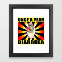 once a year diarrhea Framed Art Print