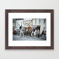 Boxing Day Fox Hunt Framed Art Print