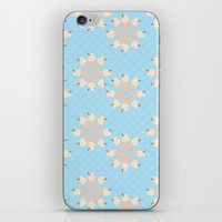 Blue Floral Ice Cream iPhone & iPod Skin