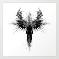 Particles And Angels Art Print