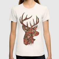 ROAD KILL ~ RED Womens Fitted Tee Natural SMALL