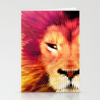 BIG CAT LION Stationery Cards