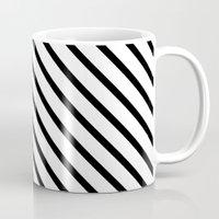 Diagonal Block - Pink Mug