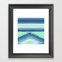 MINT SURF GIRL Framed Art Print