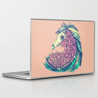 horse Laptop & iPad Skins featuring Beautiful Horse by dvdesign