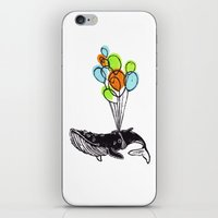 Balloons Whale iPhone & iPod Skin