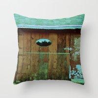 Barn Door Throw Pillow
