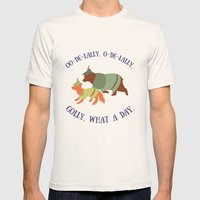 Robin Hood And Little Jo… Mens Fitted Tee Natural SMALL