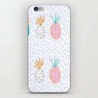 Pineapple. Illustration, print, pattern, fruit, design, fun, iPhone & iPod Skin