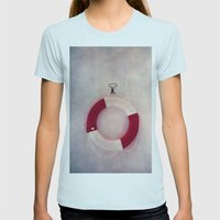 Help me! Womens Fitted Tee Light Blue SMALL