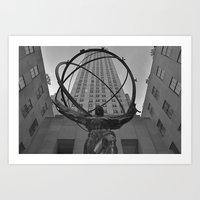 Atlas Statue And Rockefe… Art Print