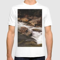 Rivers Of Living Water White Mens Fitted Tee SMALL