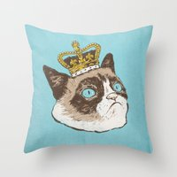 Grumpy King Throw Pillow