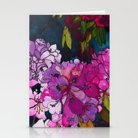 Purple Globes of Rhododendron  Stationery Cards