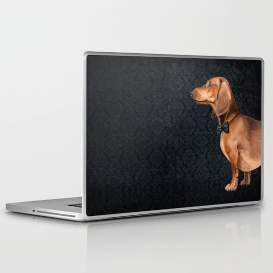 Portrait of an elegant dachshund. Laptop & iPad Skin