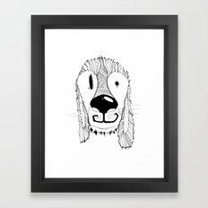 Dog sketch Framed Art Print