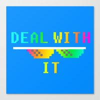 Deal With It Canvas Print