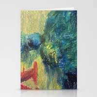 Abstract Landscape III Stationery Cards