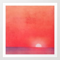 Sunset Impression Art Print