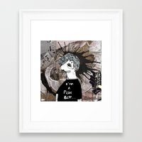 Poor boy Framed Art Print