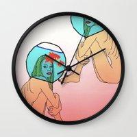 Drowning In A Fish Bowl Wall Clock