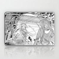 Midnight Blossom / Original A4 Illustration / Pen & Ink Laptop & iPad Skin