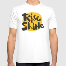Rise & Shine SMALL Mens Fitted Tee White