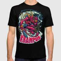 BEWARE THE KRAMPUS Mens Fitted Tee Black SMALL