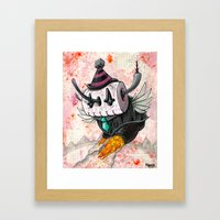 The Robot Monster 00101101 Framed Art Print