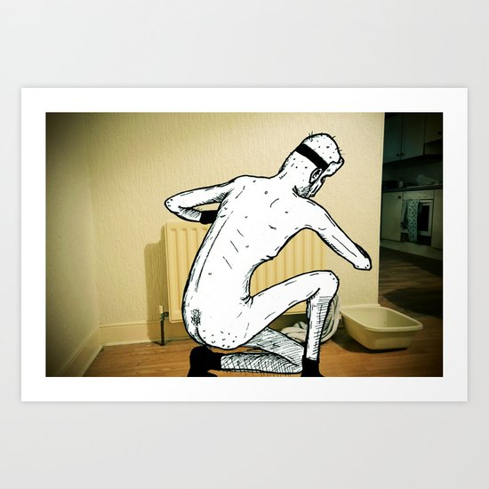 Billy the killer - bleeding a radiator Art Print by Darren ... Billy The Killer