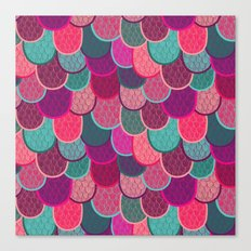 Fish Scales and Mermaid Tales Canvas Print