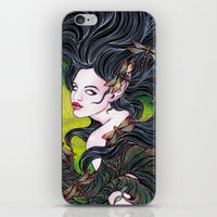 Queen Of Dragonflies iPhone & iPod Skin