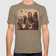 Victorian Wars  Mens Fitted Tee Tri-Coffee LARGE