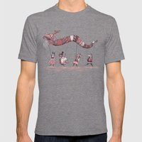 Dragon Parade  Mens Fitted Tee Tri-Grey SMALL