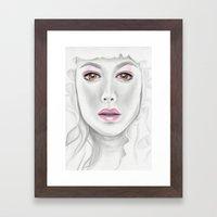 Porcelain Beauty Framed Art Print