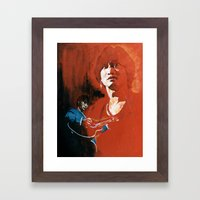 Wong Ka Kui  1962-1993 hong kong rock star Framed Art Print