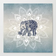 Elephant  Mandala Canvas Print