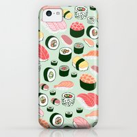 iPhone 5c Cases featuring Sushi Love by Kristin Nohe