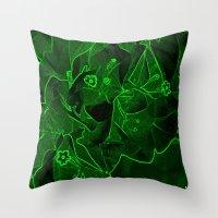 Ali - green Throw Pillow