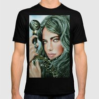 Warrior girl Mens Fitted Tee Black SMALL
