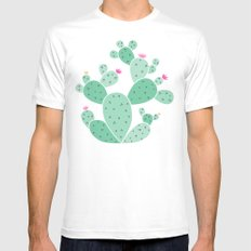 cactus Mens Fitted Tee SMALL White