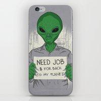 Jobless On Earth iPhone & iPod Skin