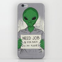 Jobless On Earth iPhone & iPod Skin